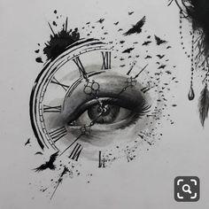 timeless pocket watch tattoo ideas - a classic and modern totem - new tattoo timeless pocket watch tattoo ideas - a classic and modern totem ideas tatto tattoofrauen tattoo wrist Clock Tattoo Ideas Clock Drawings, Pencil Art Drawings, Art Drawings Sketches, Biohazard Tattoo, Clock Tattoo Design, Eyes Artwork, Watch Tattoos, Clock Art, Desenho Tattoo