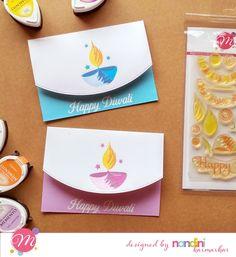 Mudra Craft Stamps: Celebrating the Festival of Lights Diy Diwali Cards, Handmade Diwali Greeting Cards, Diwali Card Making, Diwali Diy, Diwali Craft, Happy Diwali, Handmade Birthday Cards, Handmade Cards, Fun Crafts