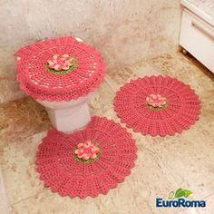 Jogo para Banheiro de Crochê - Gráfico por EuroRoma
