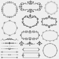 INSTANT DOWNLOAD Vintage Frame Digital ClipArt by SasiyaDesigns, $5.00