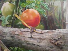 Tomates vivos óleo by Santidrian