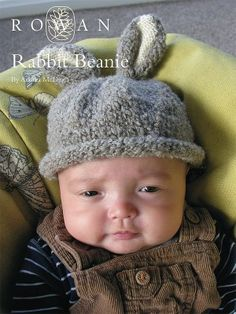 This free baby bunny hat knitting pattern is a downloadable pdf from Rowan; it fits babies 0 - 6 months.