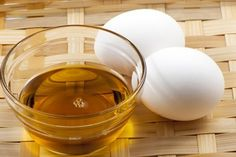 Mascarilla de yema de huevo, aceite y miel