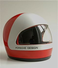 Roemer - Porsche Design Helmet German helmet from the early 80's. Face shield slides up underneath the white cover.