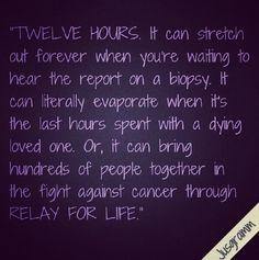 12 hours... #relayforlife Love This @dcrutch3