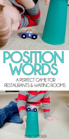 Practice position words with your toddler using this simple game that's perfect for restaurants and waiting rooms. Help your toddler build their vocabulary. Speech Therapy Activities, Language Activities, Literacy Activities, Educational Activities, Indoor Activities For Kids, Hands On Activities, Toddler Activities, Preschool Activities, Time Activities