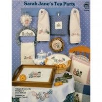 Sarah Jane's Tea Party Rag Doll Hearts Bunny Cat Cross Stitch Patterns