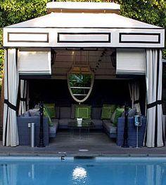 Pool cabana.