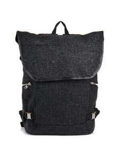 Loden wool and leather backpack | Tim Coppens | MATCHESFASHION...