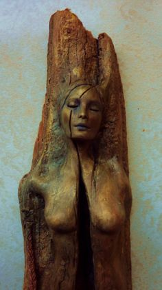 13thmoon:This beautiful fractured female tree spirit represents nature's fragility.