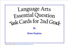 $ ELA Essential Question Task Cards - 2nd Grade
