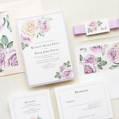 f4d18149d2bf Lavender Blush Wedding Invitations Luxury Wedding Invitations