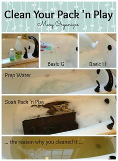 Clean your baby pack and play
