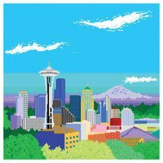 Artista Miles Donovan captura três excelentes paisagens em forma de 8-bit.