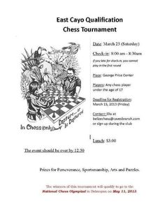 East Cayo Chess Tournament