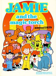 Jamie and his Magic Torch / loved this show as a kid, and introduced it to my friend and her daughters a few years ago. I like sharing in my childhood 1980s Childhood, Childhood Tv Shows, My Childhood Memories, Retro Kids, 1980s Kids, Theme Tunes, Old Cartoons, Classic Cartoons, Kids Tv