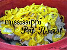 Mississippi Pot Roast -- easy, different, delicious!!