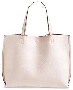 f0af8455f6a0 Street Level Reversible Vegan Leather Tote   Wristlet - Colored faux  leather flips inside-out for a reversible tote with unlimited styling  options at ...