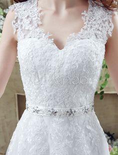 Anne de casamento vestido de rainha branca bordado faixa vestido de casamento do laço