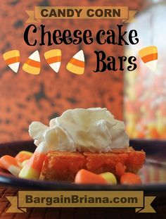 Candy Corn Cheesecake Bars Recipe