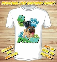 83de428830a Personalized Puppy Dog Pals Birthday T Shirt - roly