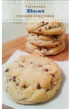 The World's Best Chocolate Chip Cookies: big, bakery-style cookies which are baked from dough directly out of the freezer, so handy to have at the ready.