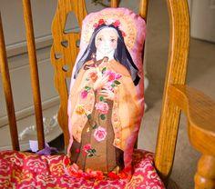 Santa Teresa de Lisieux tela muñeca cojin  KIT