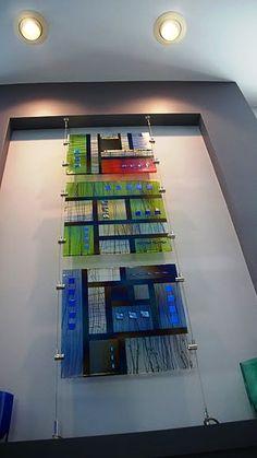 Freeburn Fused Glass 20 x 20 glass wall panel