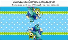 Monster University: Free Printable Goodie bag toppers