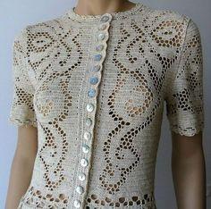 72 Grain Women 's Vest Samples-Knitting Vests Crochet, Knitting Mother Vest Modelle-Dowry Knitti Filet Crochet, Crochet Coat, Crochet Jacket, Crochet Cardigan, Crochet Clothes, Crochet Fashion, Vintage Crochet, Clothing Patterns, Crochet Patterns