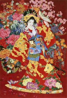 Although the masters of 'ukiyo-e' flourished over 200 years ago, there is at least one modern-day artist who fuses characteristics of the old-style 'bijin-ga' sub-genre into her gorgeous paintings of beautiful women (artwork by Haruyo Morita)