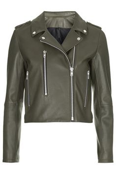 Neat Leather Biker Jacket by Boutique