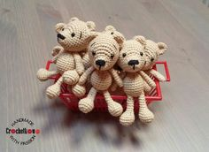 Amigurumi, teddy bears, Sidrun, Crochetkowo