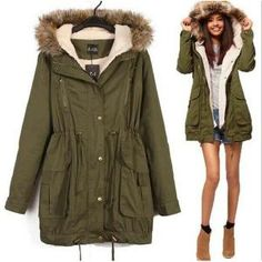 Parka Nouvelle mode fourrure capuche manteau de coton de
