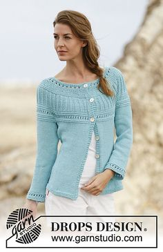 c1fb2596df83 Ravelry  161-10 Athena Cardigan pattern by DROPS design Sweater Knitting  Patterns