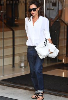 Victoria Beckham Steps Out Wearing Flats for the Second Time in One Week
