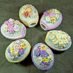 Sugared Easter Eggs; the satisfaction of creating them for a special basket!