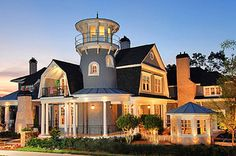 Plan 15756GE: Shingle Style Classic with Lighthouse Tower