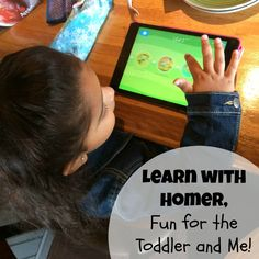 First Time Mom and Losing It: Learn with Homer, Fun for the Toddler and Me!
