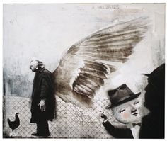 Marquez (2008)/digital collage and acrylic on canvas, 60cm x 50cm/ by Antonello Silverini