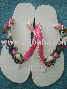 pretty sandals macrame decorated