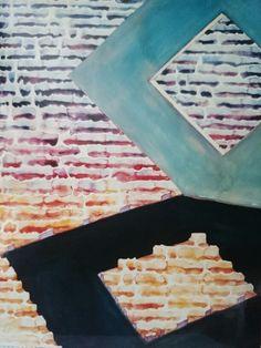 "Jacek Jaroszewski -"" Ty i ja (2)""- watercolour, gouache 2001"
