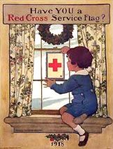 Red Cross Service Flag Poster