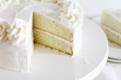 The is the BEST bakery white cake! I have sampled dozens of recipes to find a white cake that was lovely and moist and light, and this is it!