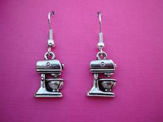 ♥ FUNKY FOOD MIXER EARRINGS CHEF BAKER CUP CAKES CUTE ♥
