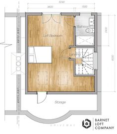 Layout for loft conversion - using the whole roof space Attic Master Bedroom, Attic Bedroom Designs, Attic Rooms, Attic Spaces, Bedroom Loft, Loft Conversion Layout, Loft Conversion Ensuite, Loft Conversion Stairs, Loft Conversions