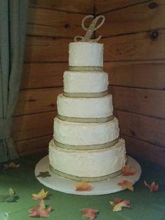 Stucco iced tiered wedding cake
