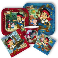 Jake and the Neverland Pirates Party Supplies, Birthday Party