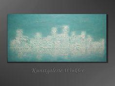 Acrylmalerei - JanuarKristall Acrylbild abstrakt Leinwand Neu - ein Designerstück von A-Winkler bei DaWanda  http://de.dawanda.com/shop/A-Winkler