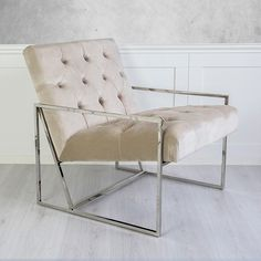 EMPIRE FÅTÖLJ SILVER/BEIGE Barcelona Chair, Future House, Beige, Accent Chairs, Showroom, Furniture, Empire, Home Decor, Upholstered Chairs